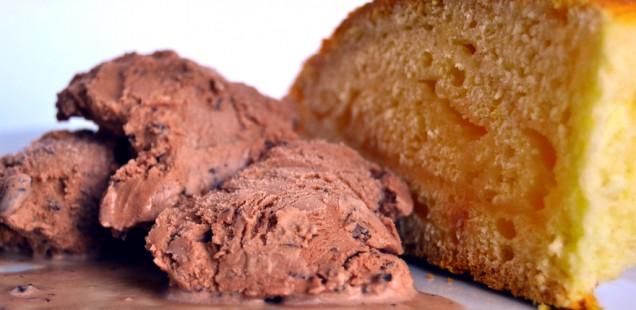Gelato cacao e granella extra