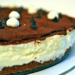 Cheesecake gelato con cioccolato fondente