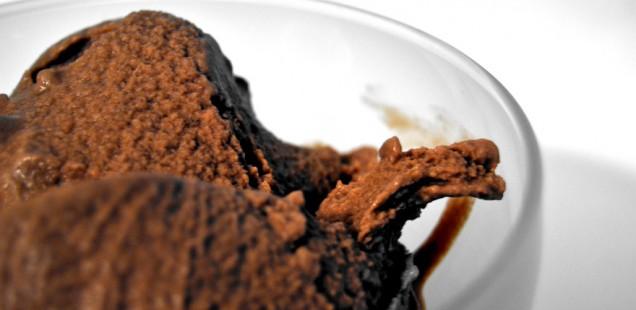 Gelato miele cacao e zucchero di canna