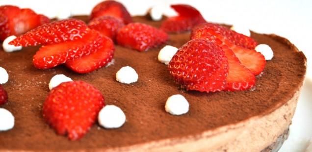 cheesecake cioccolato e fragole