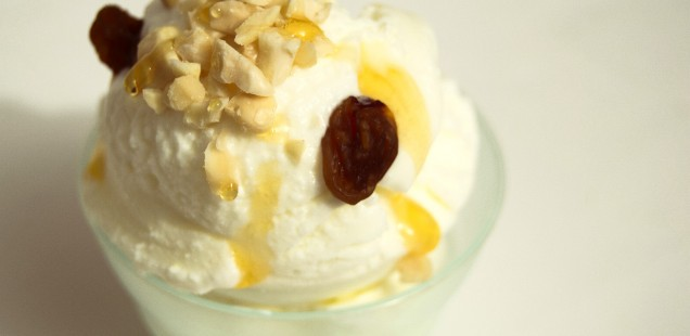 Gelato allo yogurt greco