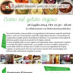 Corso sul gelato vegano 26 Luglio 2014